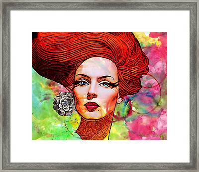 Woman With Earring Framed Print by Chuck Staley