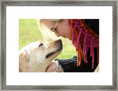 Woman's Best Friend Framed Print by Andrew Heald