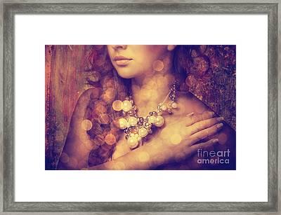 Woman's Decollete Framed Print by Jelena Jovanovic