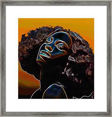 Womans Essence II              Framed Print by  Fli Art