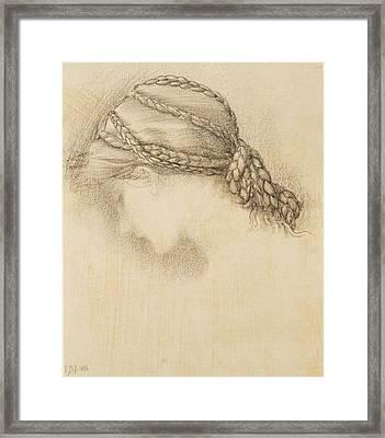 Womans Head, Detail From A Sketchbook Framed Print by Sir Edward Coley Burne-Jones