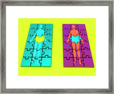 Womb Transplant Framed Print by Christian Darkin