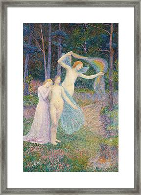 Women Amongst The Trees Framed Print by Hippolyte Petitjean