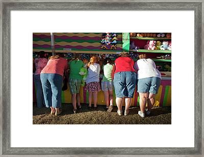 Women And Children At A Fair Framed Print by Peter Menzel