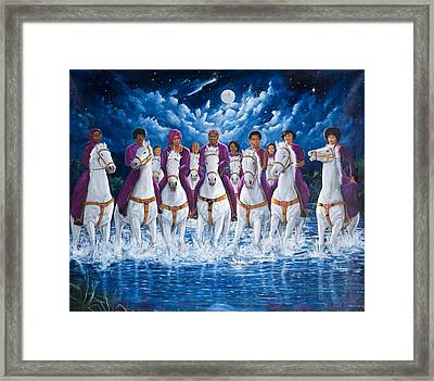 Sisters For Freedom Framed Print by Kolongi Brathwaite