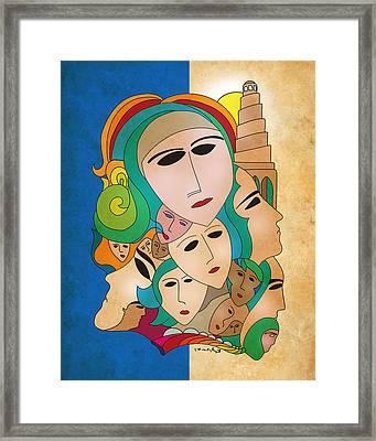 Women From Mesopotamia Framed Print by Qutaiba Al-Mahawili