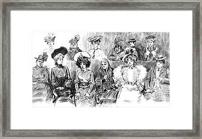 Women Jurors 1902 Framed Print by Padre Art