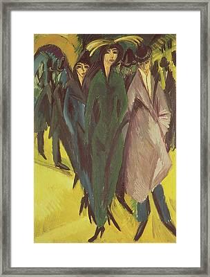 Women On The Street Framed Print by Ernst Ludwig Kirchner