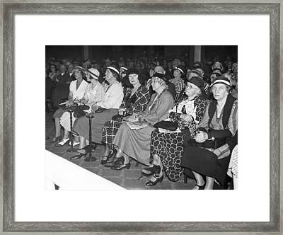 Women Spectators Framed Print by Underwood Archives