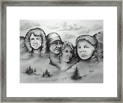 Women Who Rock Framed Print by Catherine Howley