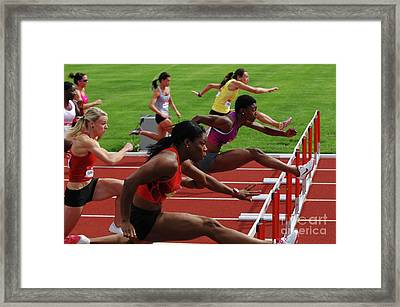 Womens Hurdles 3 Framed Print by Bob Christopher