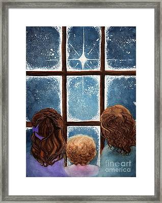 Wonder Of The Night Framed Print by Janine Riley