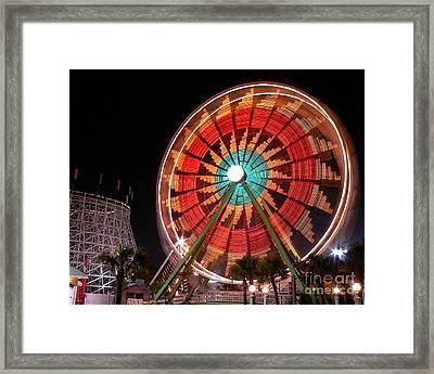 Wonder Wheel - Slow Shutter Framed Print by Al Powell Photography USA