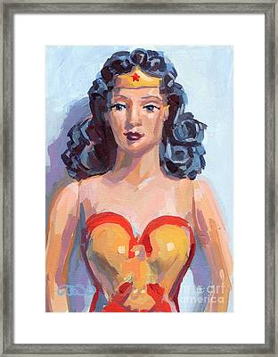 Wonder Woman Framed Print by Kimberly Santini