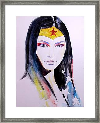 Wonder Woman Framed Print by Lauren Anne