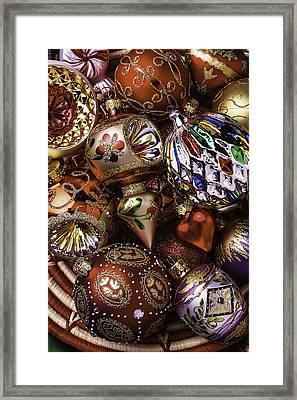 Wonderful Christmas Ornaments Framed Print by Garry Gay