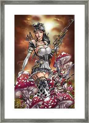 Wonderland 04c Steampunk Calie Framed Print by Zenescope Entertainment