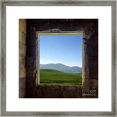Wondow Framed Print by Bernard Jaubert
