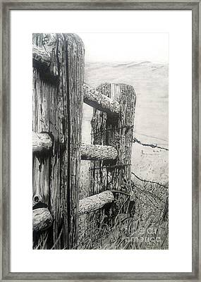 Wood And Wire Framed Print by Jackie Mestrom