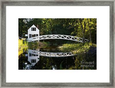 Wood Bridge Somesville Framed Print by Jane Rix