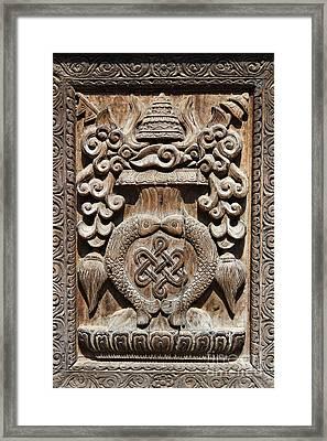 Wood Carving At Bhaktapur In Nepal Framed Print by Robert Preston