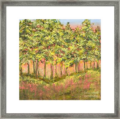 Wood In The Sunset Framed Print by Vic  Mastis