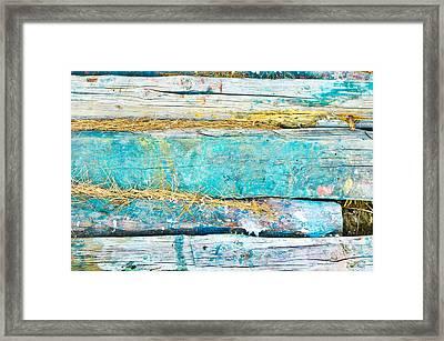 Wood Logs Framed Print by Tom Gowanlock