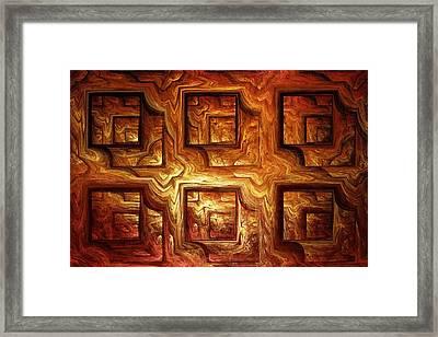 Wood Panel Framed Print by Anastasiya Malakhova