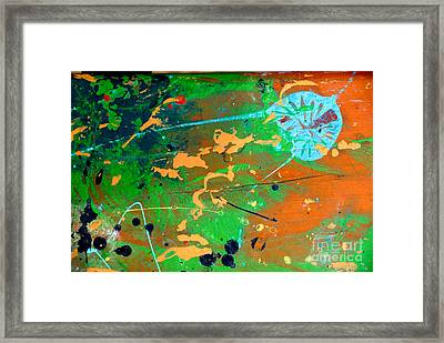 Painted Framed Print featuring the photograph Wood Splattered With Paint by Amy Cicconi