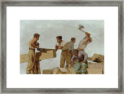 Wood Structure Framed Print by Jules Didier