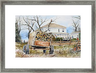 Wood Wagon Framed Print by Monte Toon