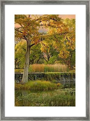 Woodcreek Bridge Framed Print by Robert Anschutz