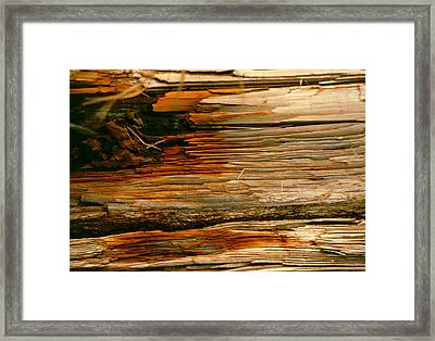 Wooden Abstract Framed Print by Michael Durst