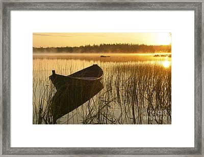 Wooden Boat Framed Print by Veikko Suikkanen
