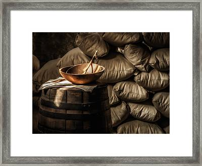 Wooden Bowl Framed Print by James Barber
