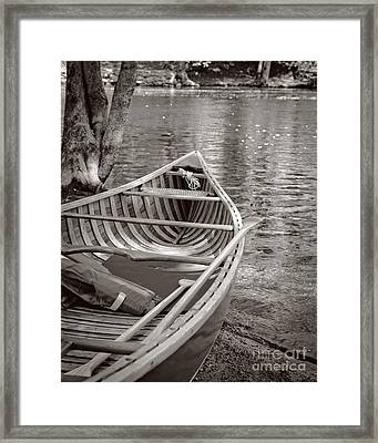 Wooden Canoe Framed Print by Edward Fielding