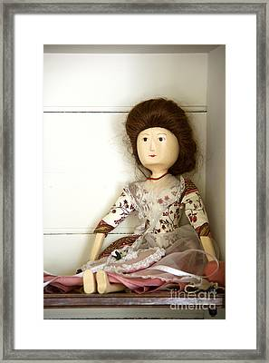 Wooden Doll Framed Print by Margie Hurwich