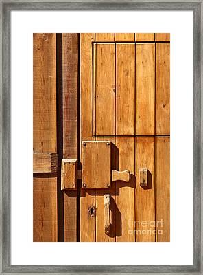 Wooden Door Detail Framed Print by Carlos Caetano