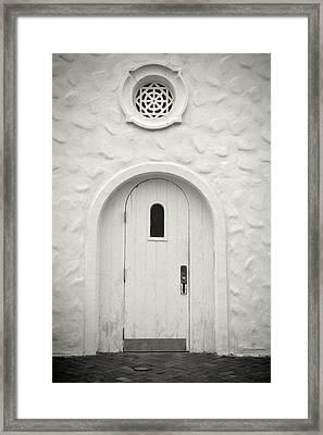 Wooden Door Framed Print by Rudy Umans