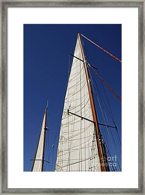 Wooden Masts And Sails Framed Print by Sami Sarkis