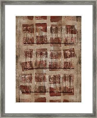 Wooden Paper Framed Print by Carol Leigh