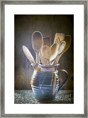 Wooden Spoons Framed Print by Jan Bickerton