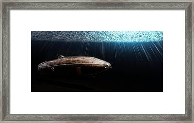 Wooden Submarine Ictineo II Dv Framed Print by Weston Westmoreland