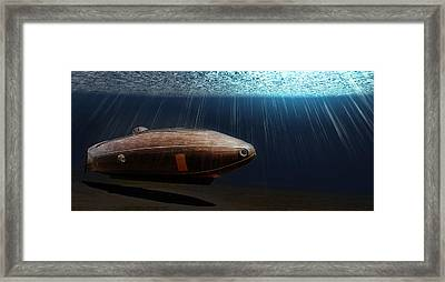 Wooden Submarine Ictineo II Lv Framed Print by Weston Westmoreland