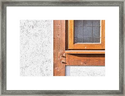 Wooden Window Frame Framed Print by Tom Gowanlock
