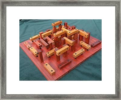 Woodhenge Framed Print by Dave Martsolf