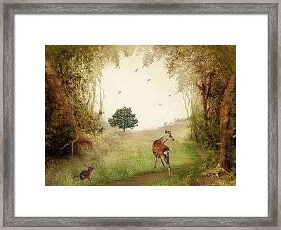 Woodland Friends Framed Print by Sharon Lisa Clarke