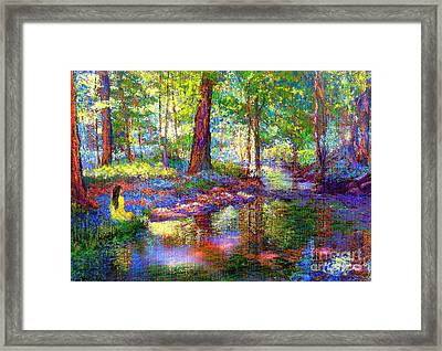 Woodland Rapture Framed Print by Jane Small