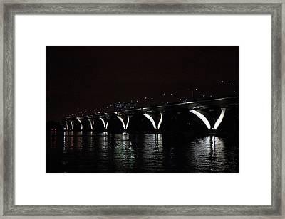 Woodrow Wilson Bridge - Washington Dc - 011311 Framed Print by DC Photographer