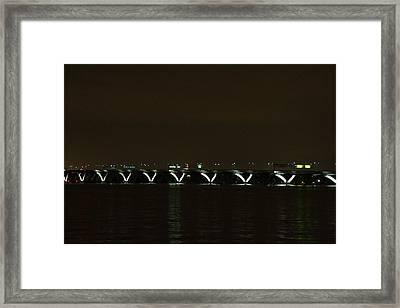 Woodrow Wilson Bridge - Washington Dc - 01138 Framed Print by DC Photographer
